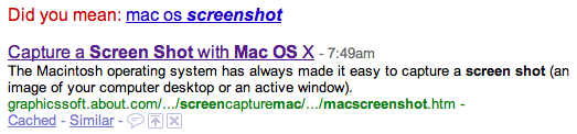 Google search for mac os screen shot