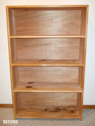 An empty bookshelf