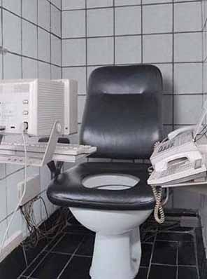 A multitasking toilet.