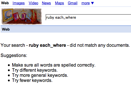 No search results for ruby each_where