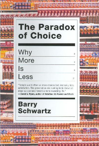 Cover of The Paradox of Choice Book