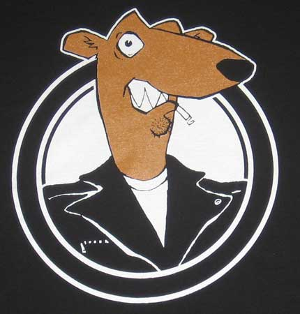 Screeching Weasel logo, the band whose leader was quoted above.