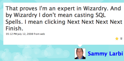 SQL wizard usage expert.