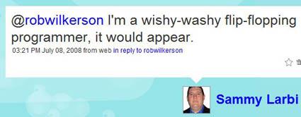 I'm a wishy-washy flip-flopping programmer